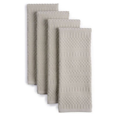 """4pk 16""""X28"""" Antimicrobial Kitchen Towels Natural - Town & Country Living"""