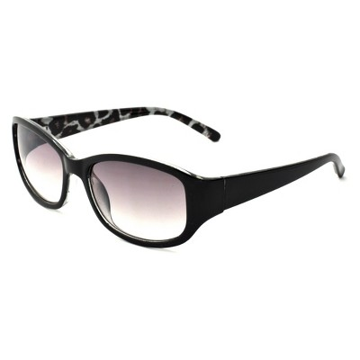 Women's Square Leopard Print Sunglasses - A New Day™ Black