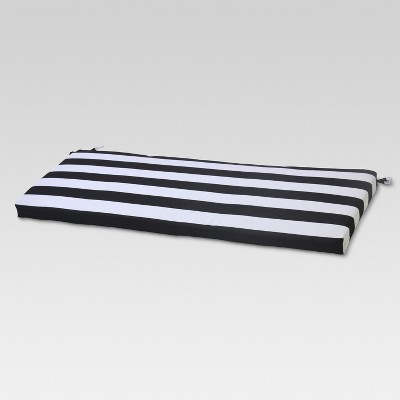 Outdoor Bench Cushion - Cabana Stripe Black - Project 62™