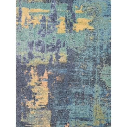 Abs03 Green Blue Indoor Area Rug Target