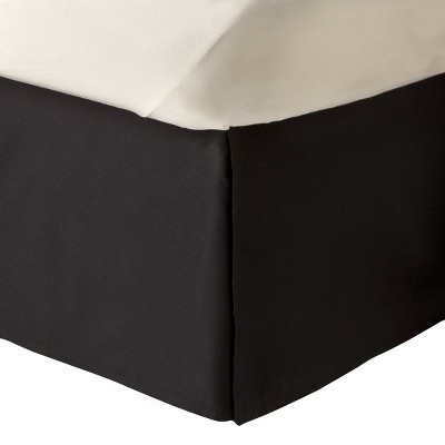Black Solid Bed Skirt (Full)- Room Essentials™