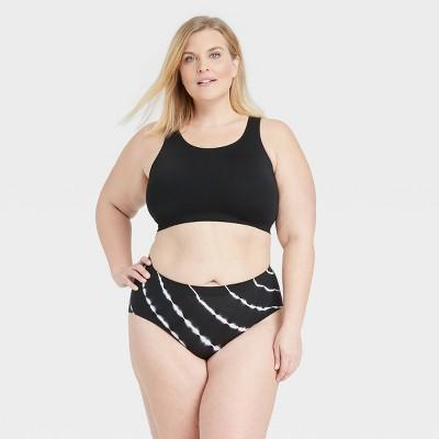 Women's Tie-Dye Plus Size Seamless Hipster Underwear - Auden™ Black/White