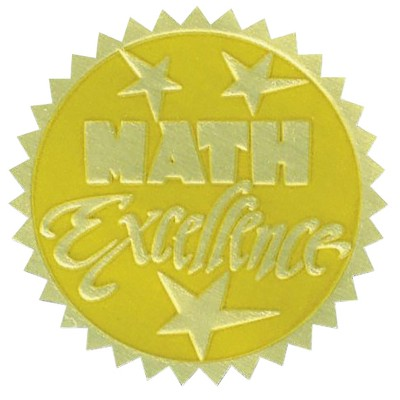 Hammond & Stephens Math Excellence Gold Foil Embossed Seal, pk of 54