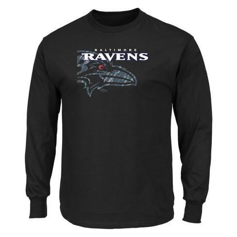 bf7437584 NFL Baltimore Ravens Men s Point Of Attack Black Long Sleeve T-Shirt ...