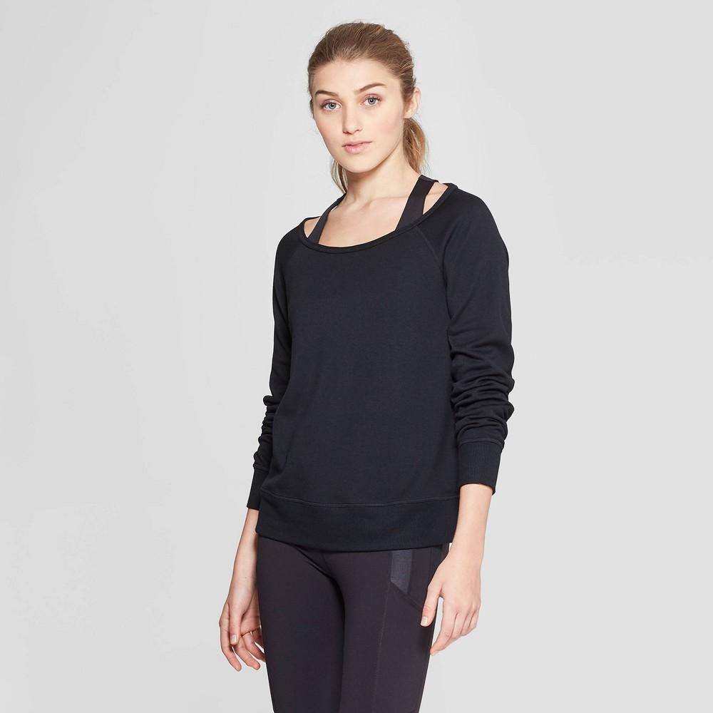 Women's Cozy Layering Sweatshirt - JoyLab Black Xxl