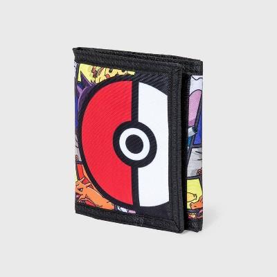 Boys' Pokemon Pika Trifold Wallet - Black
