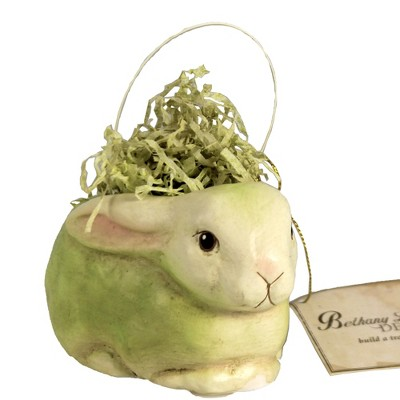 "Easter 2.75"" Confetti Resting Bunny Grass Easter  -  Decorative Figurines"