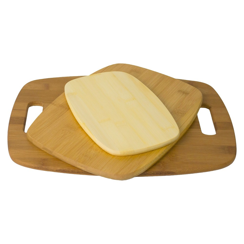Image of Architec EcoSmart Bamboo Natural Wood Cutting Board Set of 3, New Oat