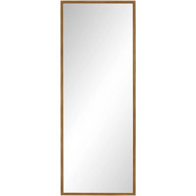 "Noble Park Eton Antique Gold 18"" x 47"" Rectangular Framed Wall Mirror"