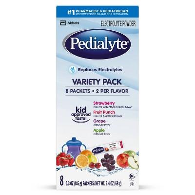 Pedialyte Electrolyte Powder - Variety Pack - 2.4oz Total