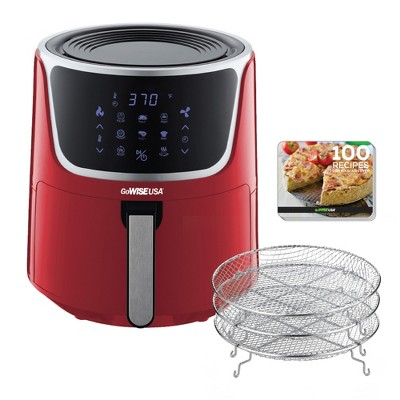 GoWISE GW22957 7-Quart Electric Air Fryer with Dehydrator, Recipe Book, and  Stackable Racks