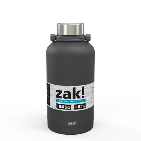 Zak Designs! 64oz Double Wall Stainless Steel Growler - Dark Gray - image 1 of 4