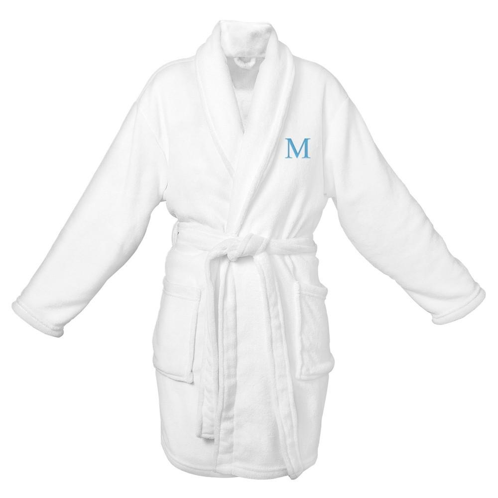 Monogram Bridesmaid Plush Robe - M, White