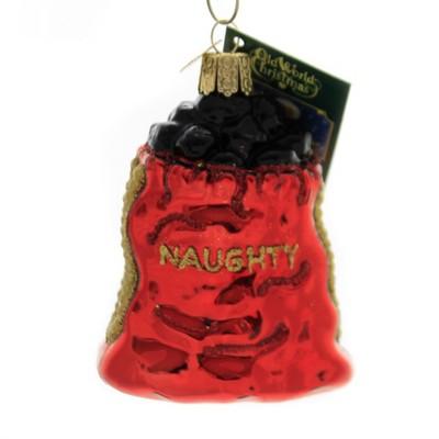 """Old World Christmas 3.25"""" Bag Of Coal Naughty  -  Tree Ornaments"""