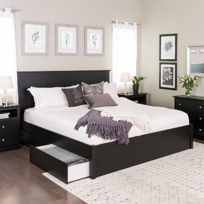 Select 4   Post Platform Bed With 4 Drawers   Prepac