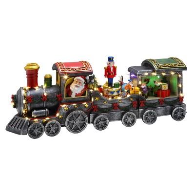 "Mr. Christmas Three Car Animated Musical Train Christmas Decoration - 20"" long"