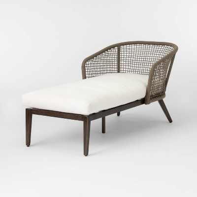 Risley Oversized Rope Patio Chaise Lounge - Linen - Project 62™