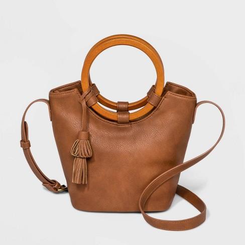 Wood Handle Bucket Crossbody Bag - Universal Thread™ - image 1 of 3