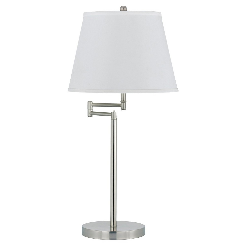 Cal Lighting Andros Brushed Steel finish Metal Table Lamp (Lamp Only)