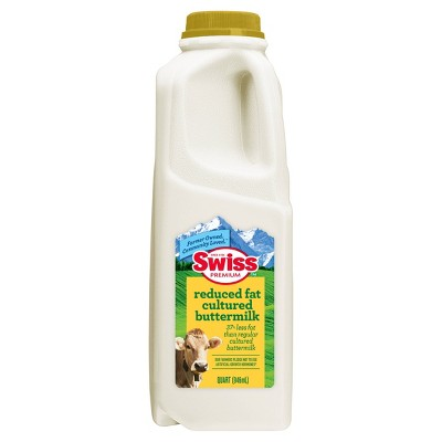 Swiss Premium 2% Reduced-Fat Cultured Buttermilk - 1qt