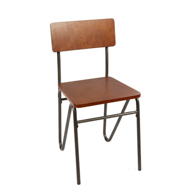 Henry Chair with Hairpin Legs Brown - Silverwood