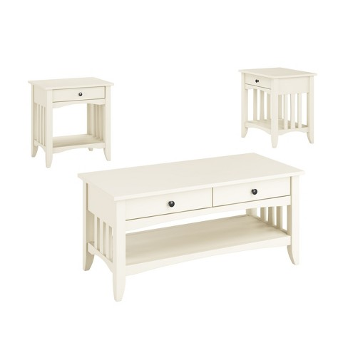 3pc Crestway Coffee Table Set with Drawers - CorLiving - image 1 of 7