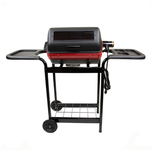 Easy Street Electric Cart Grill With Polymer Side Tables And Shelf Model 9359w5 181 Black Meco Target