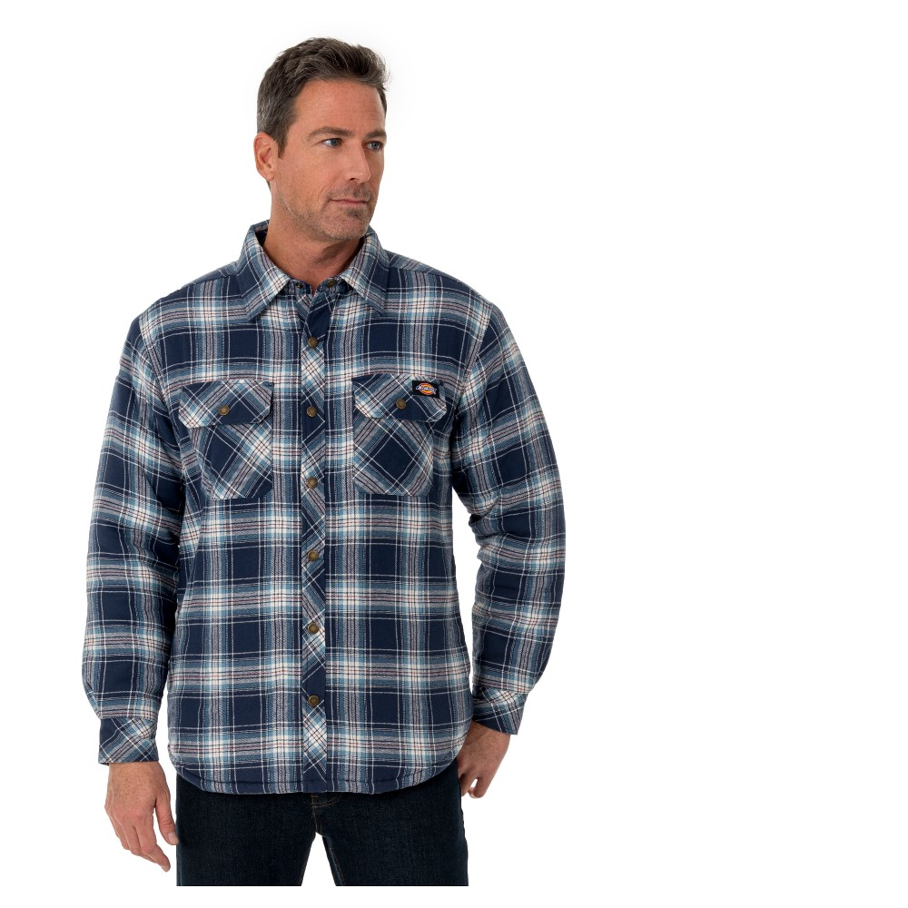 Dickies Men's Sherpa Lined Shirt Jackets - S Navy (Blue)