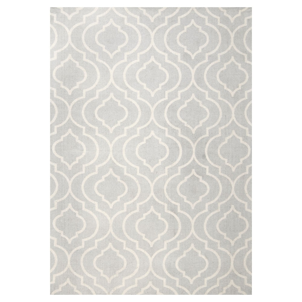 Sterling Gray Abstract Loomed Area Rug - (9'x12') - nuLOOM, Light Grey