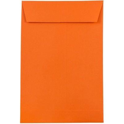 JAM Paper 50pk 6 x 9 Open End Catalog Recycled Envelopes - Orange