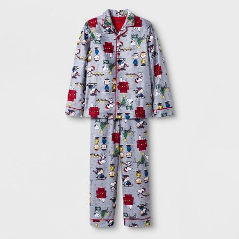 52e6dfe50c Boys  Peanuts 2pc Pajama Set - Gray   Target