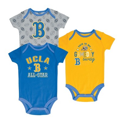 UCLA Bruins Baby Boy Short Sleeve 3pk Bodysuit - 3-6M
