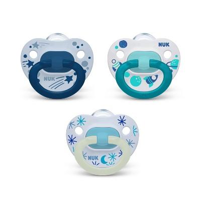 NUK Classic Pacifier 18-36 Months - Blue - 3pk