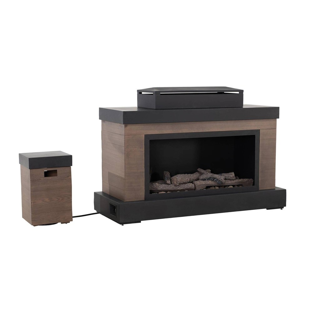 Image of Inayawan Outdoor Deep Bowl Steel Fireplace Brown - Sunjoy