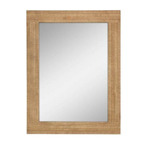 Rectangle Worn Wood Mirror Brown 24 x 18 - Stonebriar Collection - image 1 of 5