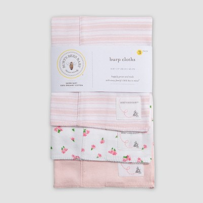 Burt's Bees Baby® Organic Cotton Burp Cloth Set - Pink One Size