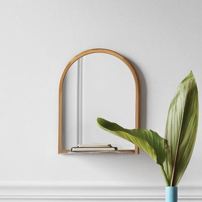 Wall Mirror with Shelf - Gold - Project 62™