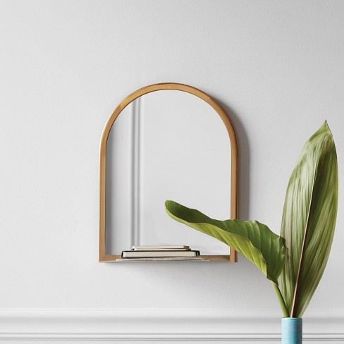 Wall Mirror With Shelf Gold Project 62