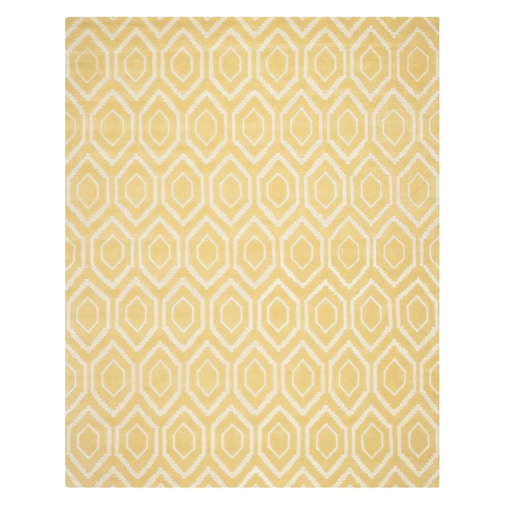 8'X10' Geometric Tufted Area Rug Light Gold/Ivory - Safavieh