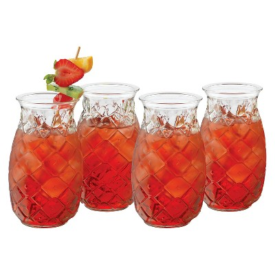 Libbey® Pineapple Short Tumblers 17oz - Set of 4