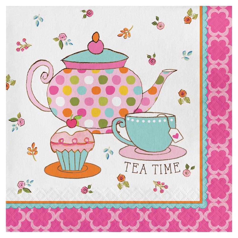 16ct Tea Time Napkins, Disposable Napkins
