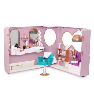 """Our Generation Hair Salon on Wheels Accessory Playset for 18"""" Dolls"""