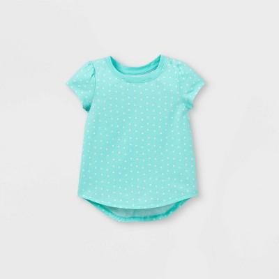 Toddler Girls' Heart Short Sleeve T-Shirt - Cat & Jack™ Aqua