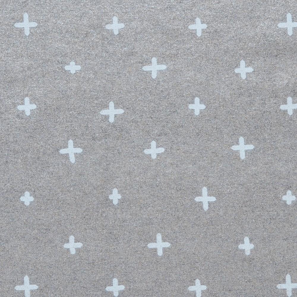 Plus Sign Christmas Gift Wrap Gray - Wondershop