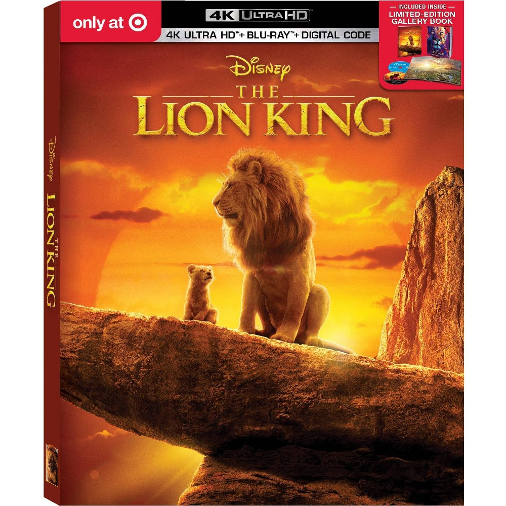 The Lion King (2019) (Target Exclusive) (4K/UHD) was $34.99 now $24.49 (30.0% off)