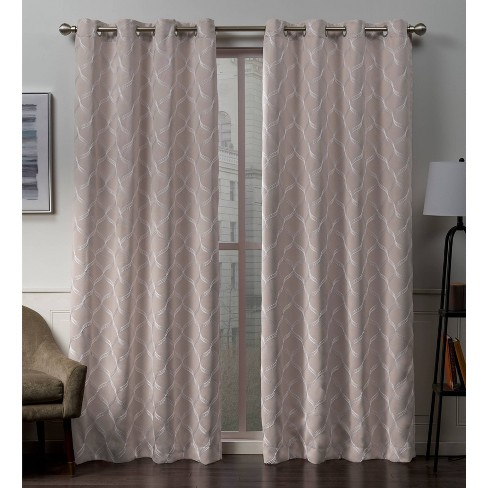 Amelia Grommet Top Blackout Window Curtain Panels - Exclusive Home - image 1 of 4