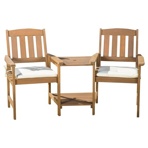 Belize Meranti Adjoined 2-Seater - Cream & Honey Oak - Christopher Knight Home - image 1 of 4