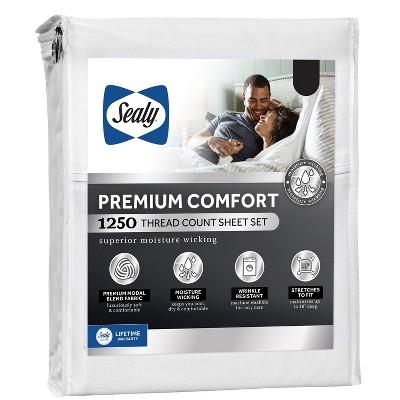 Sealy 1250 Thread Count Premium Comfort Sheet Set