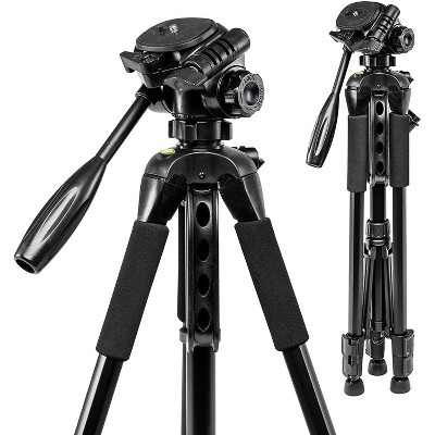 Polaroid 57-Inch Photo/Video Tripod with Deluxe Tripod Carrying Case for Digital Cameras and Camcorders
