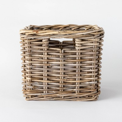 "Decorative Kooboo Rattan Cube Basket 11"" x 13"" - Threshold™ designed with Studio McGee"